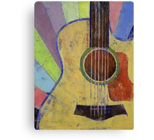 Sunrise Guitar Canvas Print