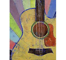 Sunrise Guitar Photographic Print