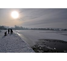 Winter Scene Frozen Lake Photographic Print