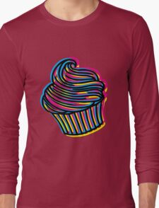 CMYK Cupcake Long Sleeve T-Shirt