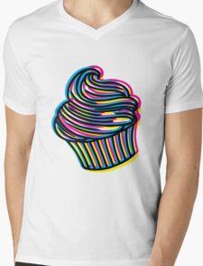 CMYK Cupcake Mens V-Neck T-Shirt