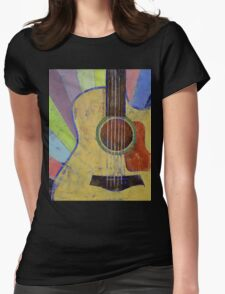 Sunrise Guitar Womens Fitted T-Shirt
