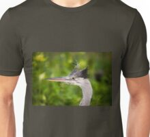 grey heron head portrait  Unisex T-Shirt