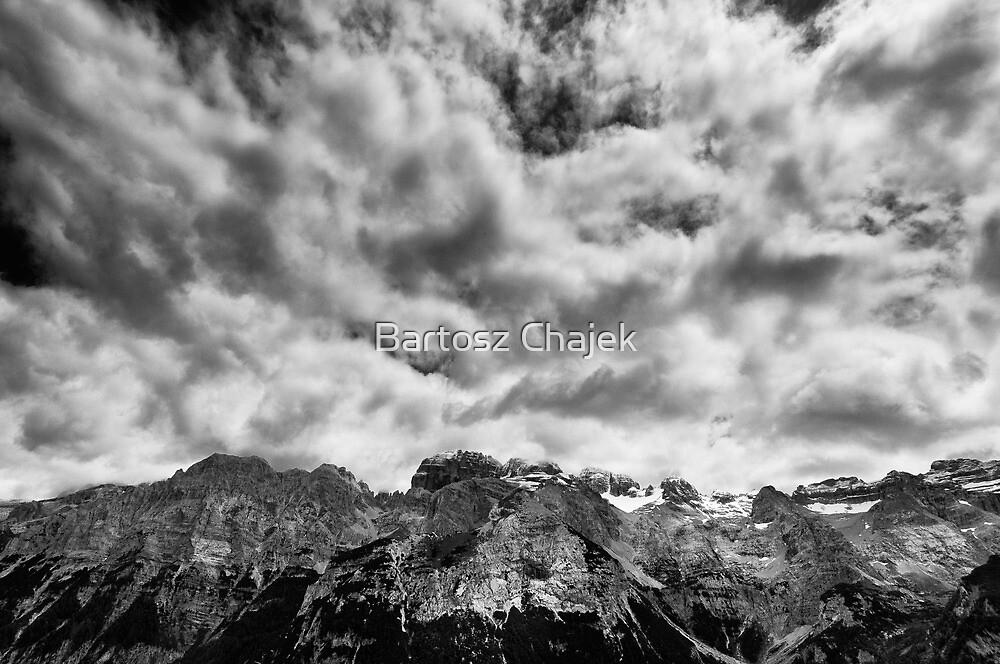 Dolomites b/w by Bartosz Chajek