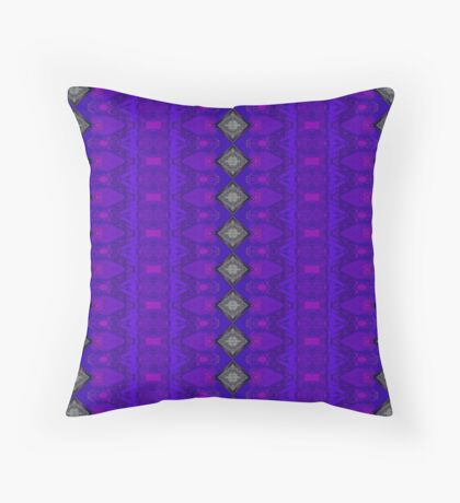 Purple Patterns Please People Throw Pillow