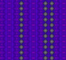 Purple Patterns Please People by Sarah Curtiss