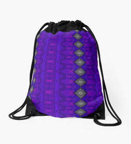 Purple Patterns Please People Drawstring Bag
