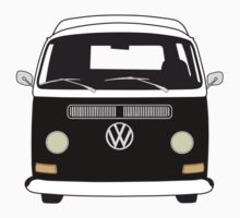 Early Bay VW Camper Front Black Kids Clothes