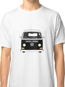 Early Bay VW Camper Front Black Classic T-Shirt