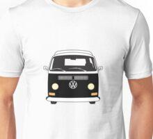 Early Bay VW Camper Front Black Unisex T-Shirt