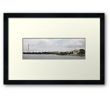Washington Memorial and Jefferson Memorial Framed Print