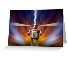 Angry Robot Greeting Card