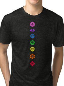 Neon Chakras Tri-blend T-Shirt