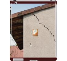 Architecture detail of damaged house iPad Case/Skin