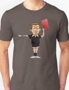Soccer Referee Holds Red Card Unisex T-Shirt