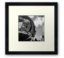 Bending Chicago Steel Framed Print