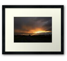 Sunburst between Rain Storms, Weather Gleam at Darlington. England Framed Print