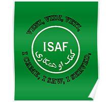 International Security Assistance Force ISAF VVV Shield  Poster