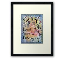 Love All Shakespeare Themed Mixed Media Framed Print