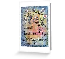 Love All Shakespeare Themed Mixed Media Greeting Card