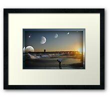 """"""" Lunar Tides """" Framed Print"""