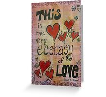 Ecstasy of Love Shakespeare Themed Mixed Media Greeting Card