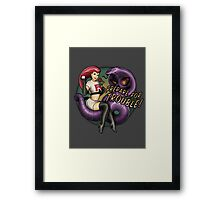 Prepare for TROUBLE! Framed Print