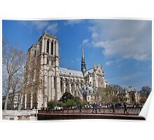Notre Dame cathedral, Paris Poster