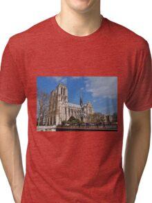 Notre Dame cathedral, Paris Tri-blend T-Shirt