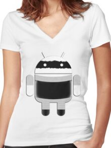 Priss DROID Women's Fitted V-Neck T-Shirt