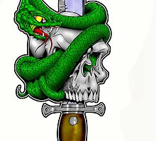 Snake n Skull by Paul Thomas