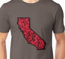 Cali With Red Bandana Unisex T-Shirt