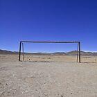 An old football abandoned ground in Uyuni, near the Salar salt arid desert in the Altiplano, South Lipez, Bolivia, South America by Thibaut PETIT-BARA