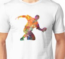 Baseball player catching a ball Unisex T-Shirt