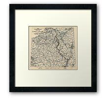 World War II Twelfth Army Group Situation Map February 5 1945 Framed Print