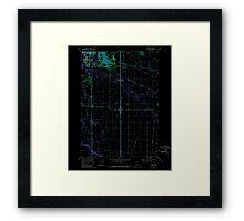 USGS Topo Map Oregon Tangent 281754 1969 24000 Inverted Framed Print