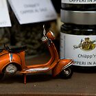 Old Italian Vespa toys in a shop, Piazza Armerina, Sicily, Italy, Mediterranean sea, Europe, EU  by Thibaut PETIT-BARA