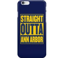Maize and Blue Straight Outta AA iPhone Case/Skin