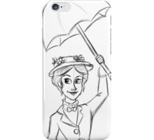 Mary Poppins Sketch iPhone Case/Skin