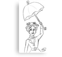 Mary Poppins Sketch Canvas Print