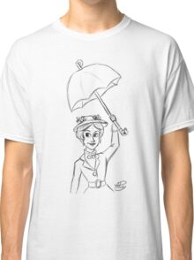 Mary Poppins Sketch Classic T-Shirt
