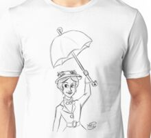 Mary Poppins Sketch Unisex T-Shirt