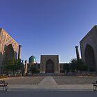 The Registan square, Samarkand, Uzbekistan, Central Asia.  by Thibaut PETIT-BARA