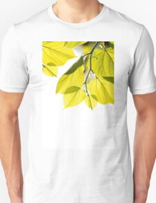 Twig with young green leaves T-Shirt