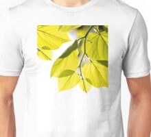 Twig with young green leaves Unisex T-Shirt