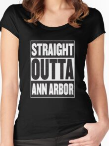 Straight Outta Ann Arbor Women's Fitted Scoop T-Shirt