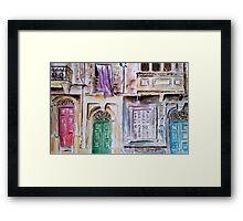 Maltese Facade Framed Print