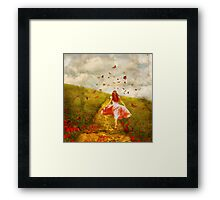 Her Yellow Brick Road Framed Print
