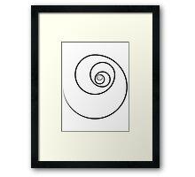 Reverse Golden Ratio Spiral Framed Print