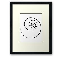Reverse Golden Ratio Spiral Framed Print